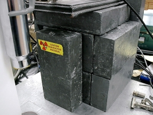 Lead bricks used as radiation shielding materials