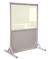 Wide Mobile Lead Barrier Clear Window
