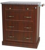 Wood Laminate 480 Capacity Punch Card Medication Cart with Key Lock